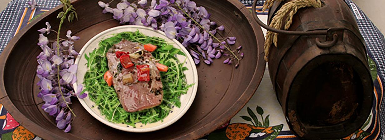 Petto d'oca sott'olio con verdure