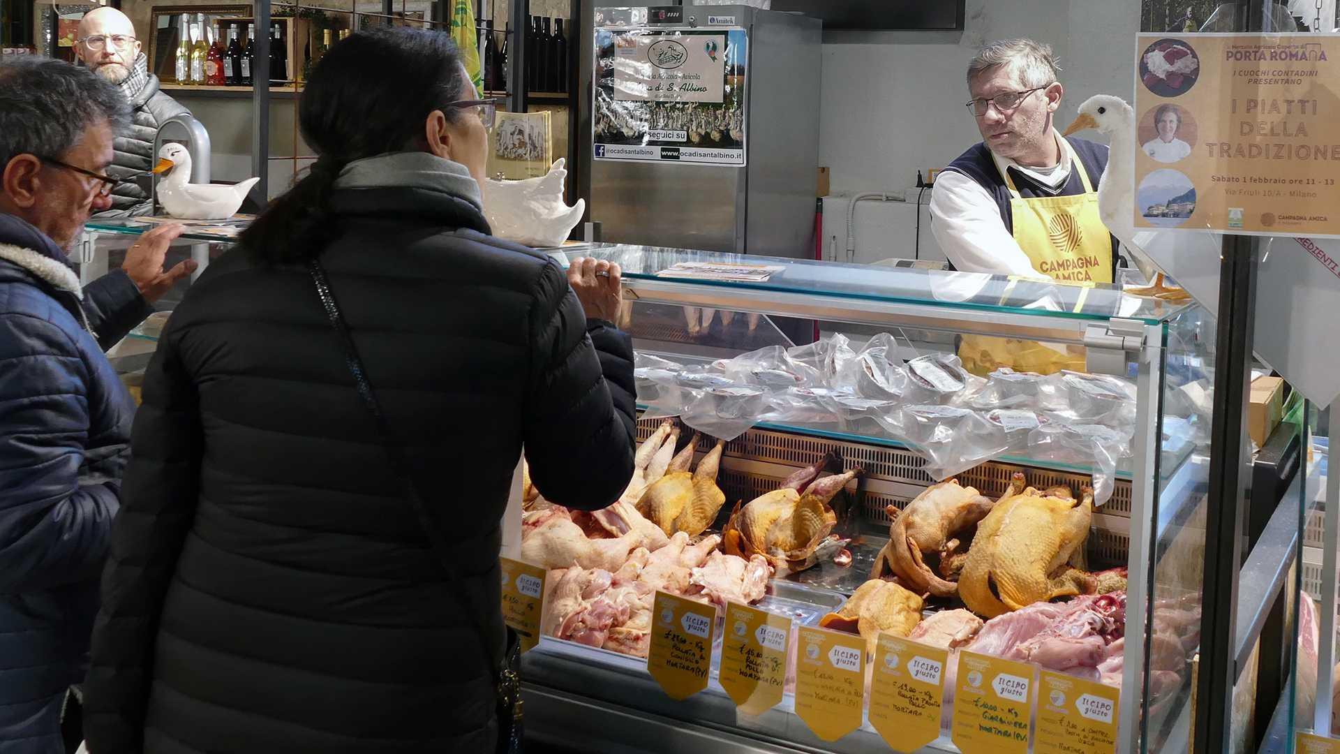 Davide Gallina Mercato Via Friuli Stand Oca di Sant'Albino