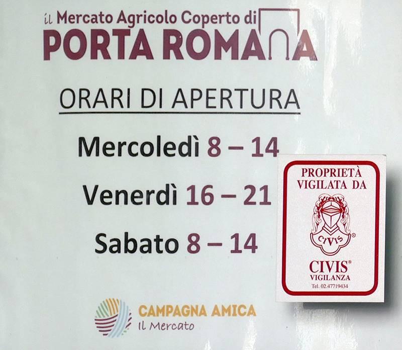 Mercato Agricolo Porta Romana Milano orari
